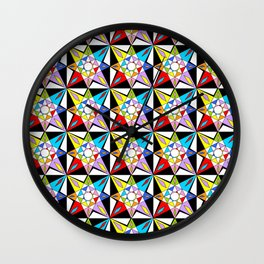 symetric patterns 81-mandala,geometric,rosace,harmony,star,symmetry Wall Clock