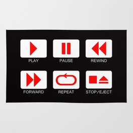Music Player Button Rug