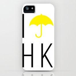 I #umbrella HK (Yellow) iPhone Case