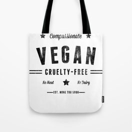 """Vintage Vegan"" by Ben Capozzi Tote Bag"