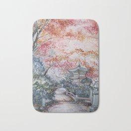 Autumn (Watercolor painting) Bath Mat