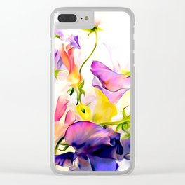 Floral Dreams Clear iPhone Case