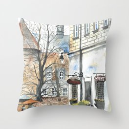 The Warsaw Barbican Poland Throw Pillow