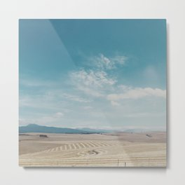 Overberg farmlands, South Africa Metal Print