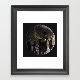 Playing on Ganymede Framed Art Print