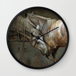 Fighting lipizzan horses Wall Clock