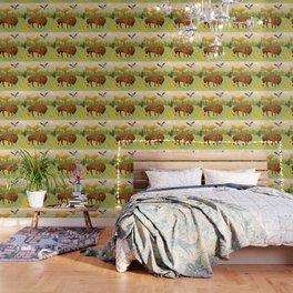 Bisons on the Range Wallpaper