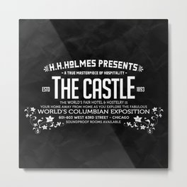 H.H.Holmes Presents: The Castle Metal Print