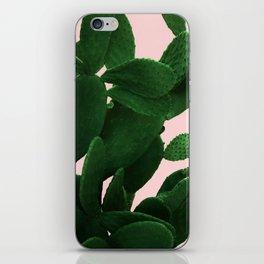 Cactus On Pink iPhone Skin
