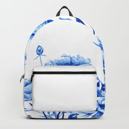 blue peonies Backpack