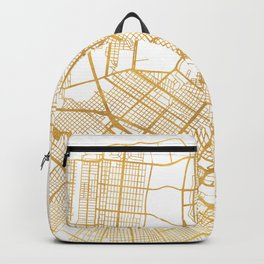 NEW ORLEANS LOUISIANA CITY STREET MAP ART Backpack
