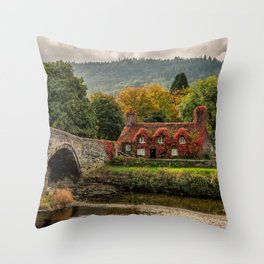 Llanrwst Cottage  Throw Pillow