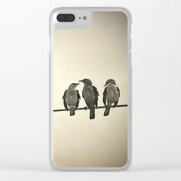 Three Little Birds Clear iPhone Case