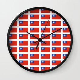 Flag of Myanmar-ဗမာ, မြန်မာ, Burma,Burmese,Myanmese,Naypyidaw, Yangon, Rangoon. Wall Clock