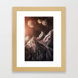 So our quest leads us here  Framed Art Print