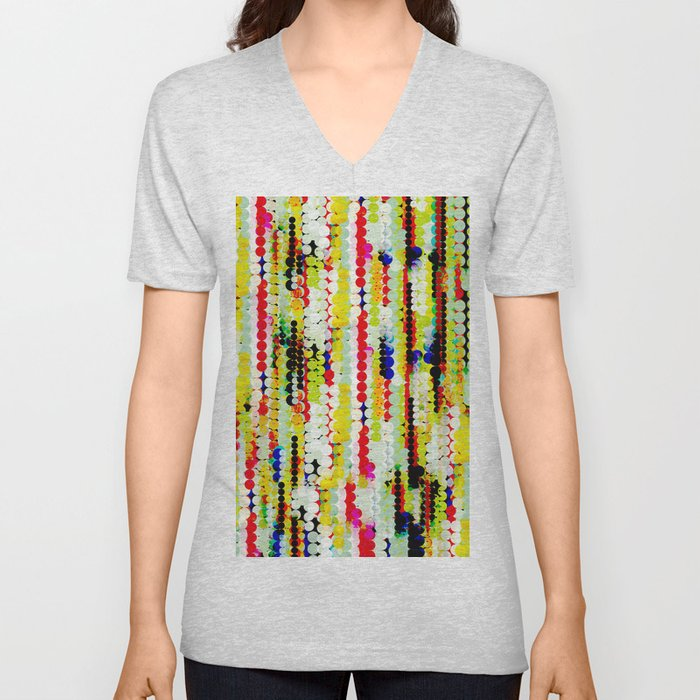 bohemian abstract pattern Unisex V-Neck