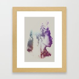 Oh, the places that she dreamed about Framed Art Print