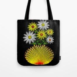 String Art Flowers Tote Bag