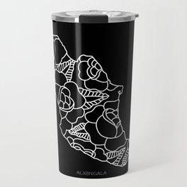Mexico Map White Outline Travel Mug
