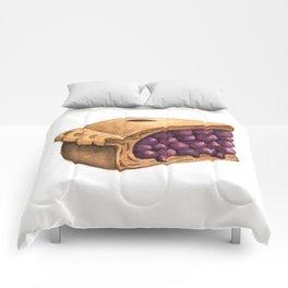 Blueberry Pie Slice Comforters