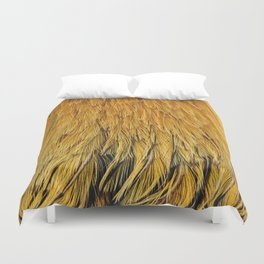Fancy Rooster Feathers Duvet Cover