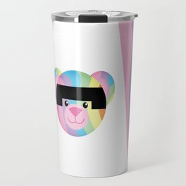 Classic Rainbow Bondage Bear Travel Mug