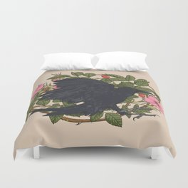 Raven and roses Duvet Cover