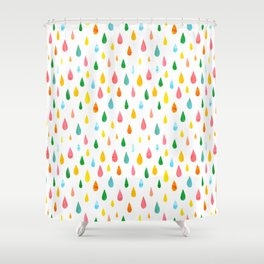 Happy Rain Shower Curtain