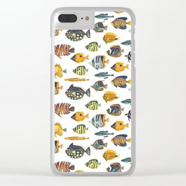 School of Tropical Fish Clear iPhone Case
