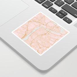 Prague map Sticker