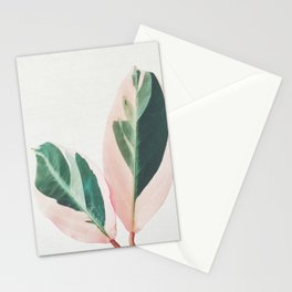 Pink Leaves I Stationery Cards