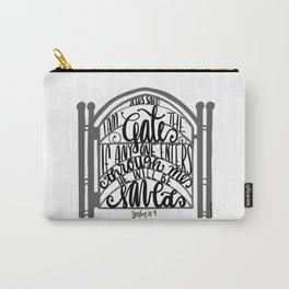 John 10:9 - Jesus saves Carry-All Pouch