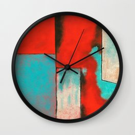 The Corners of My Mind, Abstract Painting Wall Clock