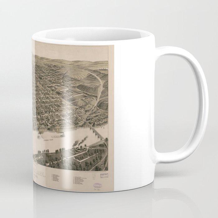 Perspective Map of Little Rock, Arkansas (1887) Coffee Mug