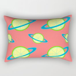 Planet Lime Pattern | Solar System | Space | Citrus Planets | Tropical Fruit | pulps of wood Rectangular Pillow