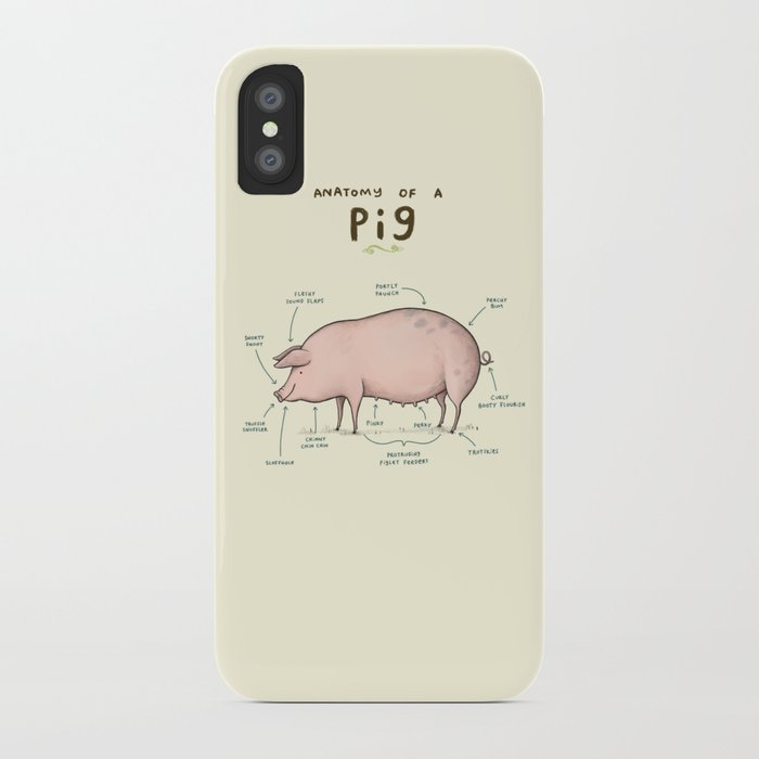 Anatomy Of A Pig Iphone Case By Sophiecorrigan Society6