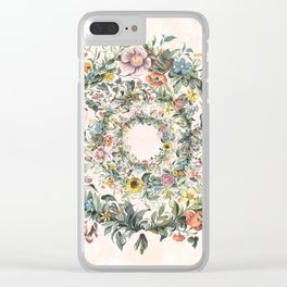 Circle of life- floral Clear iPhone Case
