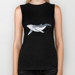 Baby humpback whale (Megaptera novaeangliae) Biker Tank