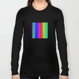 Rainbow and blue flowers Long Sleeve T-shirt