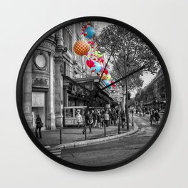 Paris Pop of Colour Wall Clock