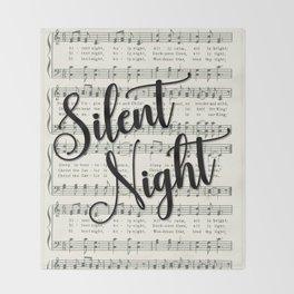 Silent Night Throw Blanket