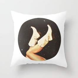 These Boots (Space) Throw Pillow