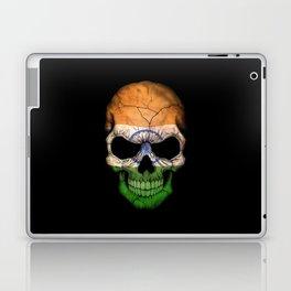 Dark Skull with Flag of India Laptop & iPad Skin