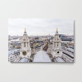 City View over London from St. Paul's Cathedral Metal Print