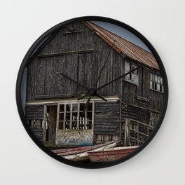 Seaside Wreck Wall Clock