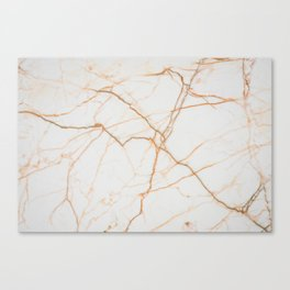 white marble Marble white and gold red vains real marble texture Canvas Print