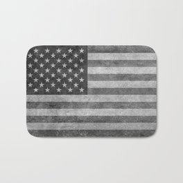 American flag - retro style in grayscale Bath Mat