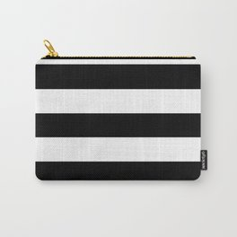 Registration black - solid color - white stripes pattern Carry-All Pouch