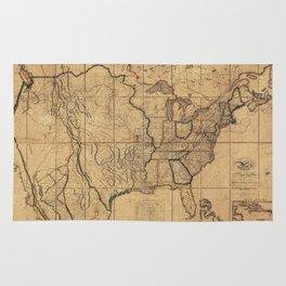 Map of the United States by John Melish (1818) 3rd State Rug