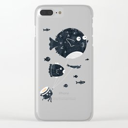 Let's Fly Away Clear iPhone Case